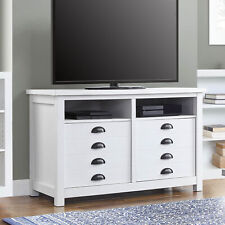 """Better Homes & Gardens Granary Modern Farmhouse TV Stand for TVs up to 55"""", Whit"""