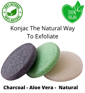 100% Natural Konjac Sponge Beauty Makeup Remover Exfoliating Cleaning Scrub