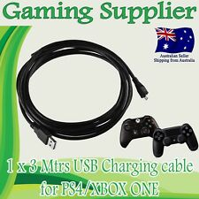 3M USB Charging Cord Sync Thick Cable for MICROSOFT XBOX ONE and PS4 CONTROLLER