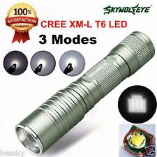Zoomable 4000 Lumen 3 Modes CREE XML T6 LED 14500/AA Flashlight Focus Torch Lamp