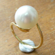 12.8mm!! AUST SOUTH SEA PEARL 100% UNTREATED +18ct SOLID YG RING +CERT AVAILABLE