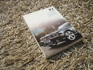 Jaguar XJ / X350 / X358 Owners Manual Handbook  -Very Good Condition 2007 - 2009