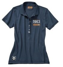 New Genuine Porsche Classic Collection Polo Shirt Blue Ladies Size Extra Small