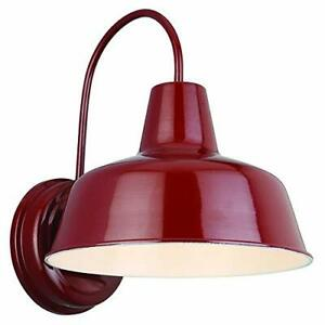 Design House 520559 Mason 1 Light Indoor/Outdoor Wall Light Rustic Red