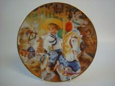 BRADEX & RECO HEARTS & FLOWERS BY SANDRA KUCK CAROUSEL OF DREAMS PLATE