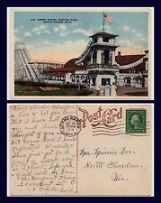 US MICHIGAN GRAND RAPIDS DERBY RACER ROLLER COASTER 1919 TO NORTH FREEDOM, OHIO
