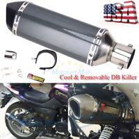Universal 38-51mm Motorcycle Exhaust Muffler Pipe Removable Sliencer W/DB Killer
