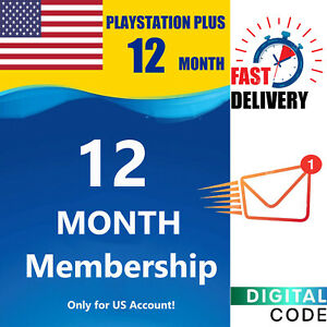 Playstation Plus Card US 12 Month - 365 days PS3/PS4/PS5 Vita CODE USA