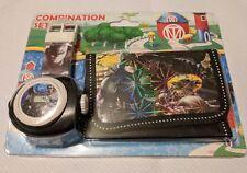 Batman Niños Reloj Proyector billetera conjunto Para Niños Chicos Regalo Con Proyector