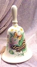 """Rare Collectible Vintage Yellow 8"""" Porcelain Bell, handpainted by Holmes Gray"""