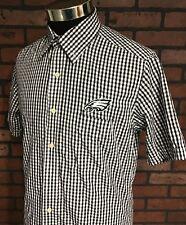 Philadelphia Eagles Nfl Button Down Short Sleeve Shirt Men's Size Medium