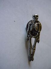 Pirate Skeleton w45 Pewter Fridge, office desk Magnet memo fancy