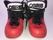 Vtg Osiris Red Black White High Top Skate Shoes Sz 10.5