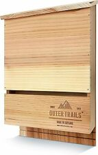 Outer Trails 2 Chamber Bat House Habitat, Prestained & All Natural Cedar Wood