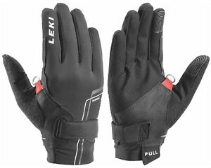 LEKI Nordic Walking Handschuhe »Nordic Move Shark« Fingerhandschuhe Schwarz Weiß