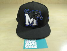 NCAA MEMPHIS TIGERS NEW ERA 5950 FITTED HAT BLACK BLUE 7 1/2 CAP