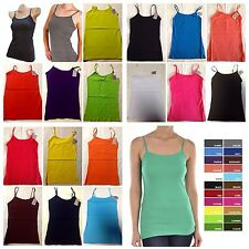 LOT OF 18 WOMEN'S  MOPAS ADJUSTABLE SPAGHETTI STRAP CAMISOLE TANK TOPS SIZE S