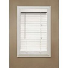 "2"" FAUX WOOD BLIND VINYL SLAT PLANTATION 32"" X 64"" COLOR WHITE"