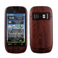 Skinomi Phone Skin Dark Wood Cover+Clear Screen Protector Shield for Nokia C7
