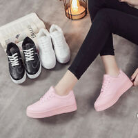 Women Winter Chunky Fur Shoes Lace Up Platform Sneakers Warm Outdoor Casual Boo