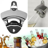 Stainless Steel Silver Wall Mounted Beer Soda Bottle Opener with Mounting Screws