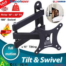 """10""""-32"""" Inch Full Motion Fixed TV Wall Mount Bracket Tilt Swivel LCD LED PLASMA"""