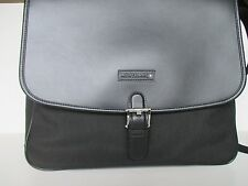MONTBLANC CANVAS AND LEATHER UNISEX SHOULDER AND MESSENGER BAG BLACK NEW 106726