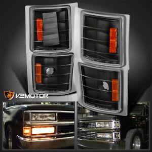Turn Signal Light For 88-93 Chevrolet K1500 Driver and Passenger Side Set of 2