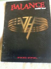 Van Halen 1995 Balance Tour Program