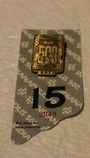 1994 Indianapolis 500 Bronze Pit Badge with Back Up Card #S977