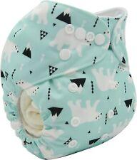 Baby Cloth Diaper Reusable Washable Adjustable Pocket Nappy Polar Bear