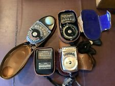 VARIETY OF VINTAGE EXPOSURE METERS