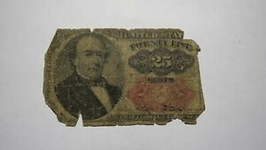 1874 $.25 Fifth Issue Fractional Currency Obsolete Bank Note Bill 25c RARE!!