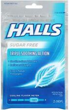Halls Sugar Free Cough Suppressant/Oral Anesthetic Menthol Drops 25ea