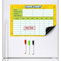 CHORE CHART Magnetic Fridge Family Planner Rota Board Weekly Drywipe A3 Task Pen