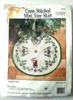 Hobby Kraft Santa's Visits Mini Tree Skirt Cross Stitch Kit Christmas village