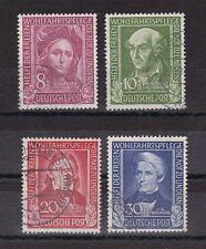 Gestempelte Briefmarken aus der BRD (1948-1954) mit Familie- & Soziales-Motiv