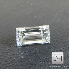 0.19 Ct Loose Baguette Cut Natural Real Diamond F VVS1 Ring Pendant Side Accents