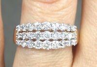Deal 1.05CTW NATURAL ROUND DIAMOND LADIES ENGAGEMENT WEDDING BAND RING 14K GOLD.