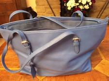 New blue shoulder bag lined zip & mob pockets zip closure adjustable straps