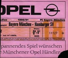 Ticket BL 90/91 FC Bayern München - Hamburger SV