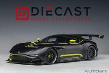 AUTOart 70262 Aston Martin Vulcan, Matt Blck w/Lime Green Stripes 1:18TH Scale