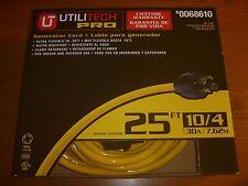 Utilitech Pro 25 FT 10/4 30 Amp Generator Cord  #0068610