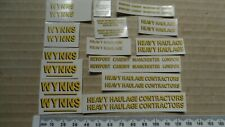 Wynns truck trailer transfers, 13 pairs.  1/50th scale waterslide decals.