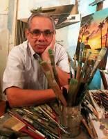 Vintage Rare Orlando Bosch Painting Cuban Activist Signed