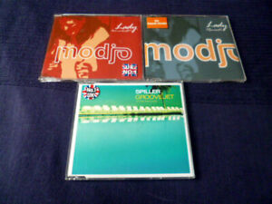3 CDs SINGLES 2000 MODJO Lady (4x) & Lady (Remixed 4x) + SPILLER Groovejet (6x)