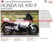 HONDA NS 400 R ( NSR ) 1985 Fiche Moto 000187