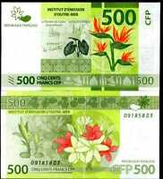 FRENCH PACIFIC TERRITORIES 500 FRANCS 2014 P 5 UNC