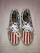 Vans 50th Anniversary Canvas Shoes Trainers USA Flag 8/10 Condition Size U.K. 7