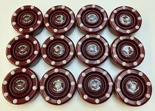 *SALE* 12 NEW Blood Red IDS Pro Shot Roller Inline Hockey Pucks Fast Shipping!